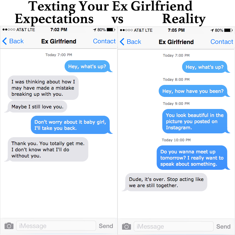 Boyfriend wants to meet up with ex girlfriend